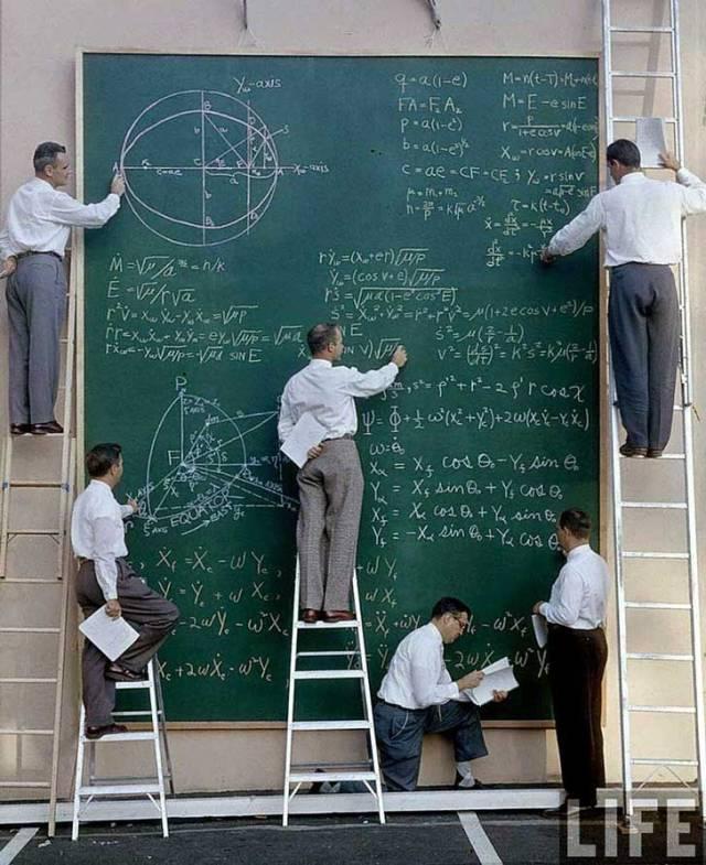 Científicos de la NASA en un congreso de cálculo en 1961