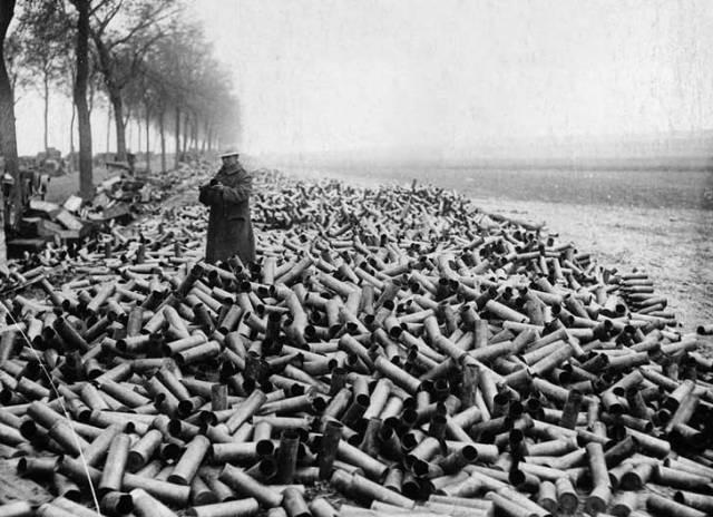 Estos cartuchos llegaron a la costa alemana arrastrados por el mar en 1916.