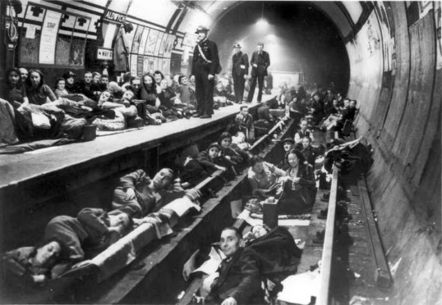 London Underground stations sheltered as many as 177,000 citizens at night.