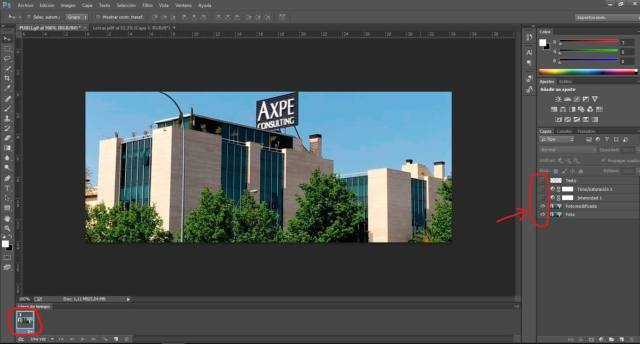 Crear GIF en Photoshop