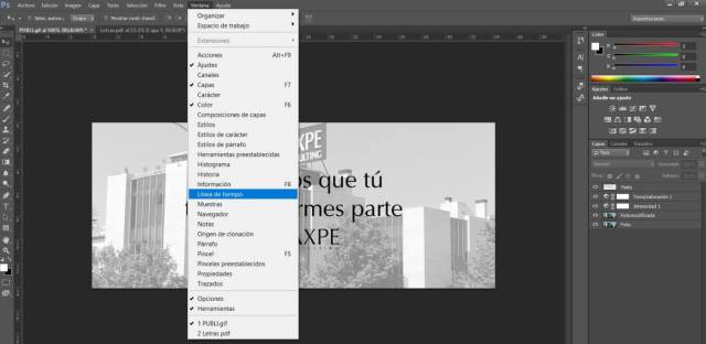 Hacer GIF Photoshop